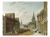 Oxford, High Street Looking West, a History of the University of Oxford, 1814 Giclee Print by Rudolph Ackermann