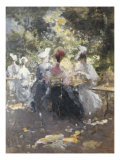 Elegant Teaparty Giclee Print by Pompeo Mariani