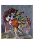 Vase of Flowers, Vase de Fleurs, 1917 Giclee Print by Emilio Boggio