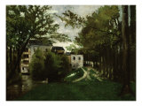 The Windmill at the La Roche Guyon. Moulin a La Roche Guyon Premium Giclee Print by Eugène Boudin