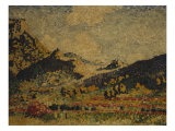 Study for the Small Mauresian Mountains, 1909 Prints by Henri Edmond Cross