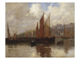 In Brixham Harbour, South Devon, 1897 Giclee Print by Terrick Williams