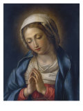 The Virgin at Prayer Giclée-tryk af Giovanni Battista Salvi da Sassoferrato
