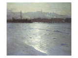 Winter on the St. Lawrence Giclee Print by Lowell Birge Harrison