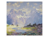 In the High Canadian Rockies, c.1914-1920 Giclee Print by Guy Rose