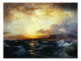 Pacific Sunset, 1907 Posters by Thomas Moran