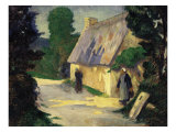 The Village Path. Le Chemin du Village, 1890 Reproduction proc&#233;d&#233; gicl&#233;e par Eug&#232;ne Boudin