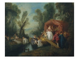 Leaving For the Island of Cythere, L'Embarquement Pour Cythere Reproduction procédé giclée par Jean-Baptiste Pater