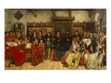 The Composer Benoit de Hertogen Directing the Local Musicians and Chorus, 1514 Giclee Print by Henri Houben
