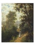 The Morning Walk, 1881 Giclee Print by Joseph Rusling Meeker