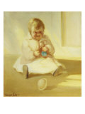 Child with Toy Giclee Print by George B. Luks