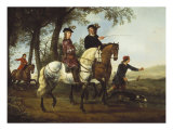 Landscape with Sportsmen Setting Out For the Hunt, c.Early 1650S Prints by Aelbert Cuyp