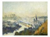 St. Catherine's Mountain, Rouen Premium Giclee Print by Eugène Boudin