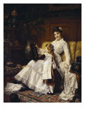 Mother and Daughter Giclee Print by Jan Frederick Portielje