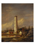 Shot Tower, 1845 Print by Jasper Francis Cropsey