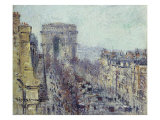 L'Avenue de Friedland, Paris 1925, 1925 Prints by Gustave Loiseau