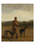 Portrait of Lord Rivers with Two Greyhounds, c.1825 Giclee Print by Jacques Laurent Agasse