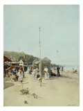 At the Beach. Gouache Prints by Luigi Loir