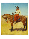 Apache Indian on Horseback Giclee Print by Gaspard Letoix