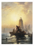 Fish Pond, Orient Bay, L. I, 1876 Giclee Print by Edward Moran
