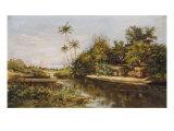 Brazilian Landscape, Paisagem Brasileiro Giclee Print by Jr, Jose Jeronimo Teles