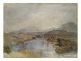 Geneva from the West, from the Junction of the Arve and the Rhone, c.1836 Giclee Print