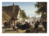 Lunch at the Inn, 1886 Prints by Florent Crabeels