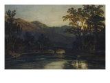J. M. W. Turner - Bridge over a River by Moonlight, 1798 Digitálně vytištěná reprodukce
