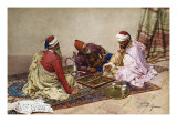 The Backgammon Players Giclee Print by Giulio Rosati