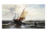 Approaching Shore Giclee Print by Edward Moran