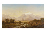 Estes Park, Colorado Landscape with Ute Indian Encampment, c.1866-1869 Giclee Print by Henry Chapman Ford