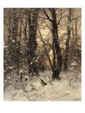 Winter Twilight, 1891 Giclee Print by Ludvig Munthe