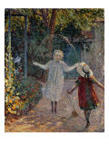 Young Girls Playing in the Garden, Fillettes Jouant Dans Un Jardin Giclee Print by Henri Lebasque