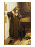 Playing with the Kittens, 1897 Giclee Print by Edith Grey