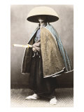 Japanese Samurai in Traditional Costume, 1868 Lámina giclée por Felice Beato