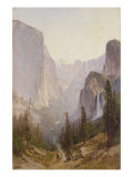 Yosemite Waterfall Posters by Thomas Hill