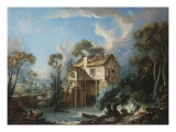 The Mill at Charenton, c.1756 Giclee Print by Francois Boucher