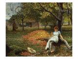The Cider Orchard, 1848-1910 Giclée-tryk af Robert Walker Macbeth