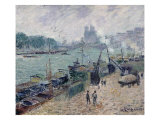 Henry IV Bridge, Paris, c.1918 Prints by Gustave Loiseau