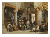 Arab Figures in a Coffee House, 1870 Prints by Carl Friedrich Heinrich Werner