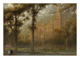 Salisbury Cathedral: the West Front and Spire, 19th Century Giclee Print by Albert Goodwin