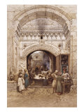 Arabs in an Alley, Cairo Giclee Print by Carl Friedrich Heinrich Werner