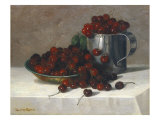 Cherries, 1882 Giclee Print by C. Harry Eaton