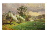 Apple Blossom Time, 1889 Poster by Jasper Francis Cropsey