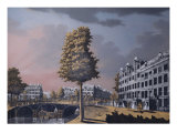 View of the Herengracht Overlooking Binnenamstel and the Nieuwe Herengracht, Amsterdam, 1776 Giclee Print by Jonas Zeuner