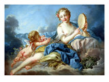 The Muse Terpsichore Giclee Print by Francois Boucher