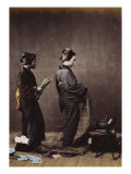 Japanese Women Dressing, c.1870-80 Prints by Felice Beato