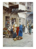 Carpet Seller in a Bazaar Prints by Filipo Or Frederico Bartolini