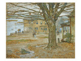 November, Cos Cob. Pastel on Prepared Tan Board, 1902 Reproduction proc&#233;d&#233; gicl&#233;e par Childe Hassam