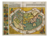 Map of Europe and the World, 1493 Giclee Print by Hartmann Schedel